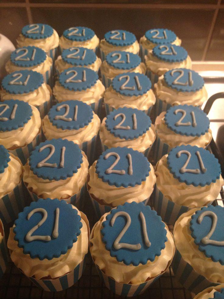 10 21st Cupcakes For Boys Photo Boy Birthday Cupcakes
