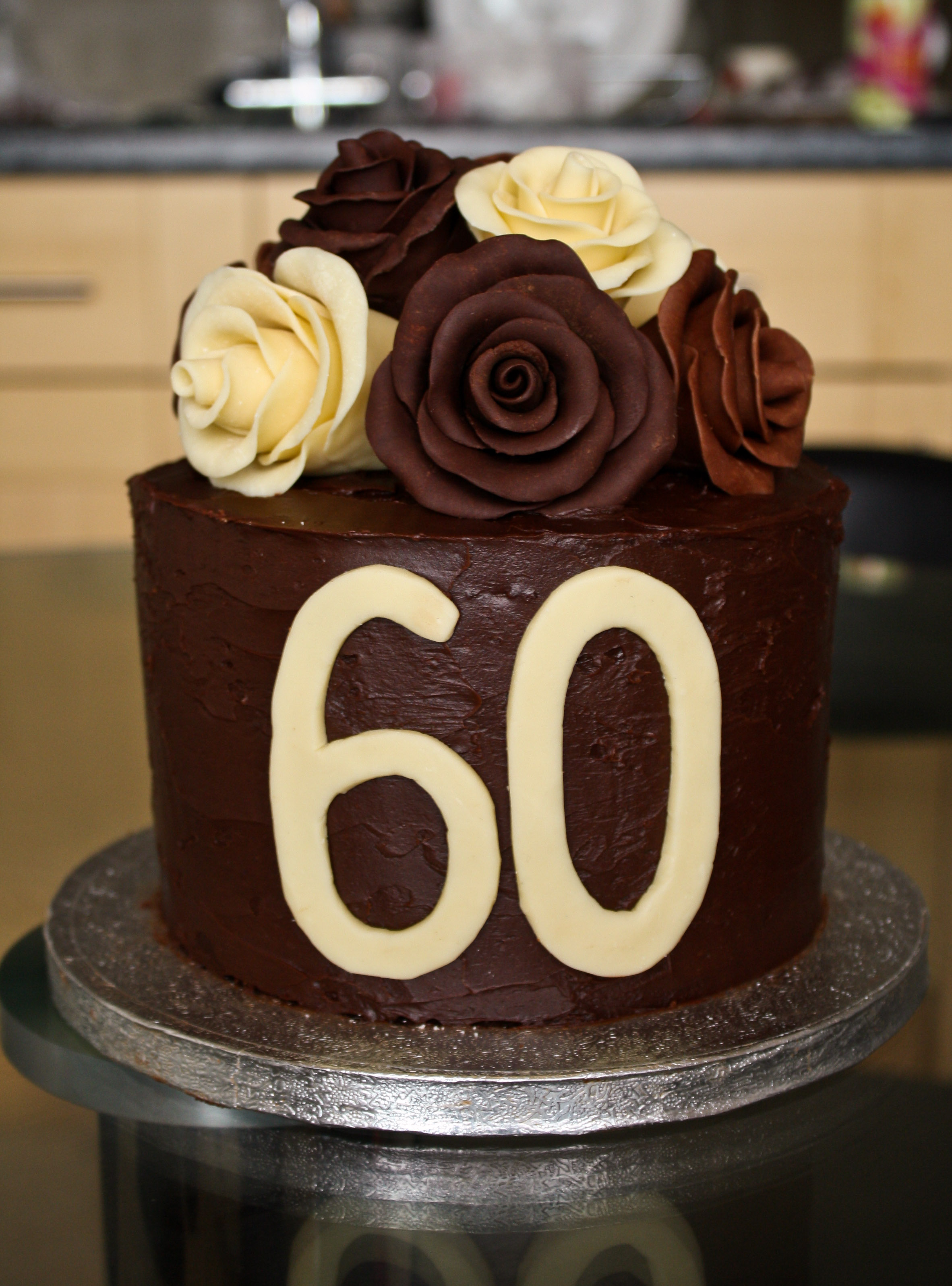 9 60th Birthday Cakes Ideas With Roses Photo
