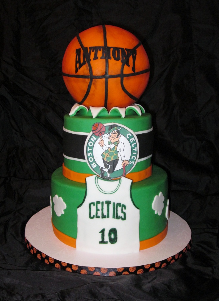 11 Celtics Themed Birthday Cakes Photo Boston Celtics Basketball