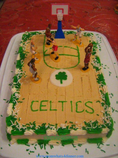 Boston Celtics Basketball Court Cake