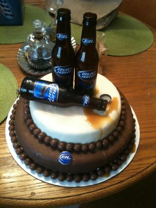 Awesome 12 Birthday Cakes For A Great Guy Photo Bud Light Birthday Cake Personalised Birthday Cards Paralily Jamesorg