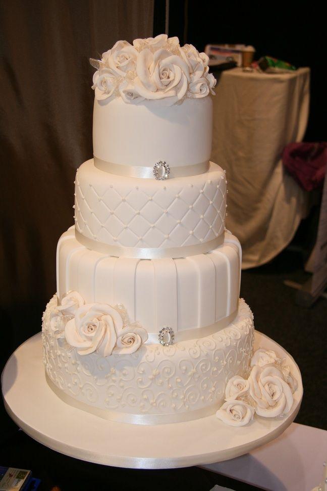 12 5 Tier Elegant Blue Wedding Cakes Photo Round White Elegant