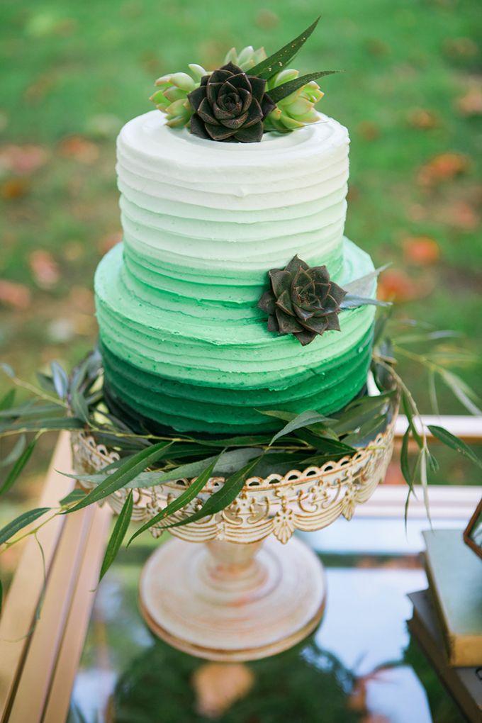 11 Green Wedding Cakes Oahu Photo , Kauai Wedding Cake, Mint