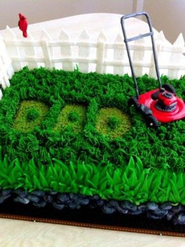 Father's Day Cakes with Lawn Mower