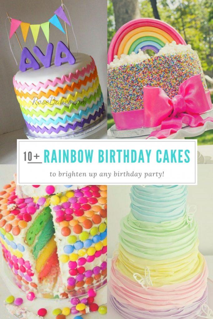 13 Colorful Birthday Cakes For Women Photo Girls Rainbow Birthday