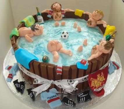 Tremendous 8 Hot Birthday Cakes Photo Hot Tub Birthday Cake Hot Tub Birthday Cards Printable Inklcafe Filternl