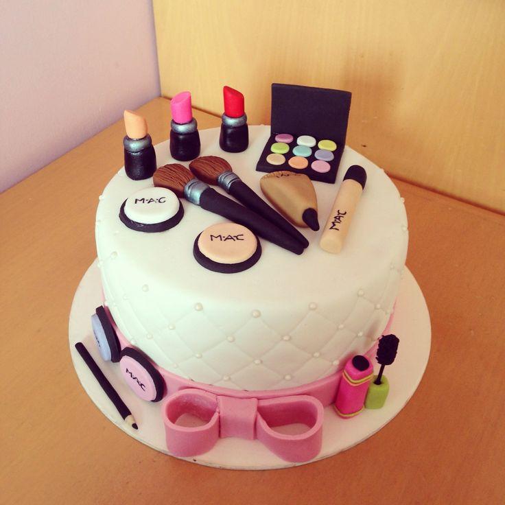 Pleasing 13 Cute Cakes That Look Like Mac Photo Makeup Birthday Cake Mac Personalised Birthday Cards Sponlily Jamesorg