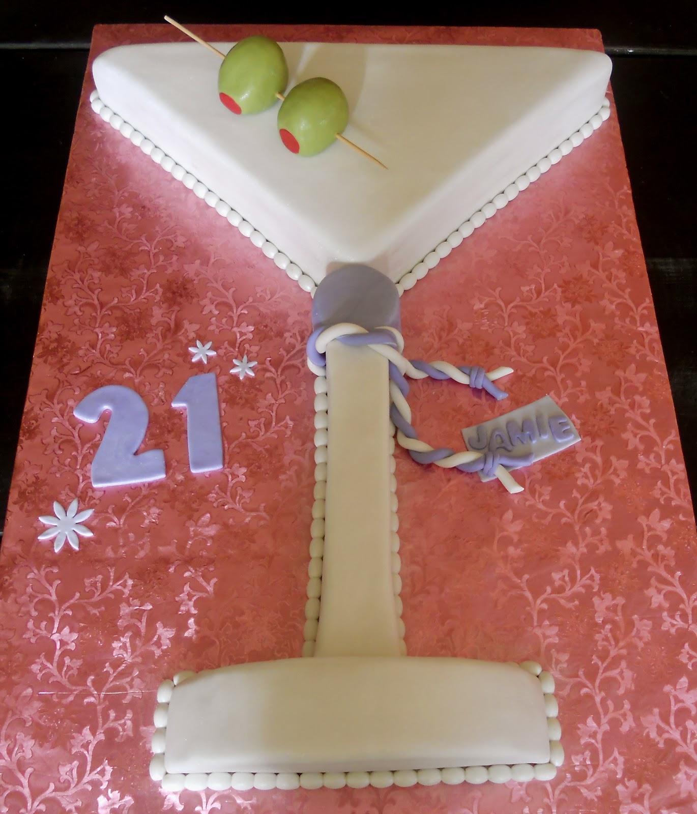 Astonishing 8 Martini Glass Shaped Cakes Photo Martini Glass Cupcake Cake Funny Birthday Cards Online Benoljebrpdamsfinfo