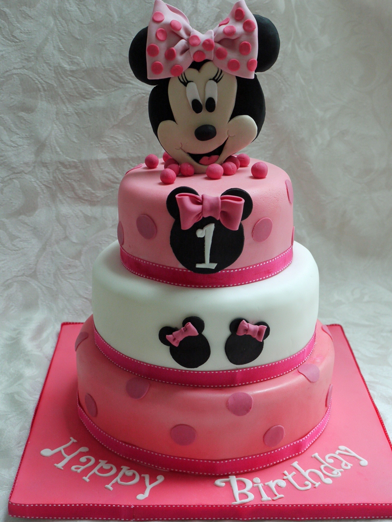 Magnificent 10 Minnie Mouse Birthday Cakes For Girls Photo Minnie Mouse 3 Personalised Birthday Cards Veneteletsinfo