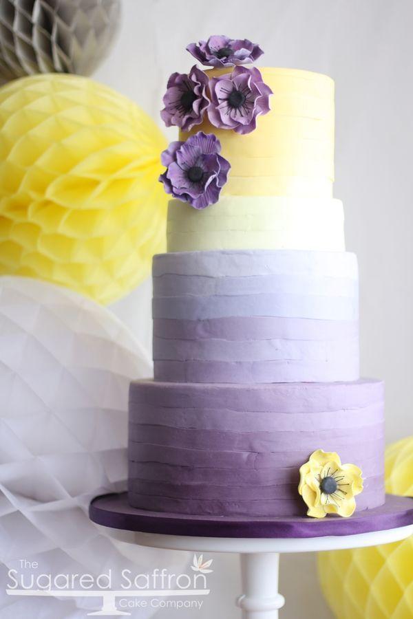 7 Cake Boss Wedding Cakes Purple And Yellow Photo Purple And