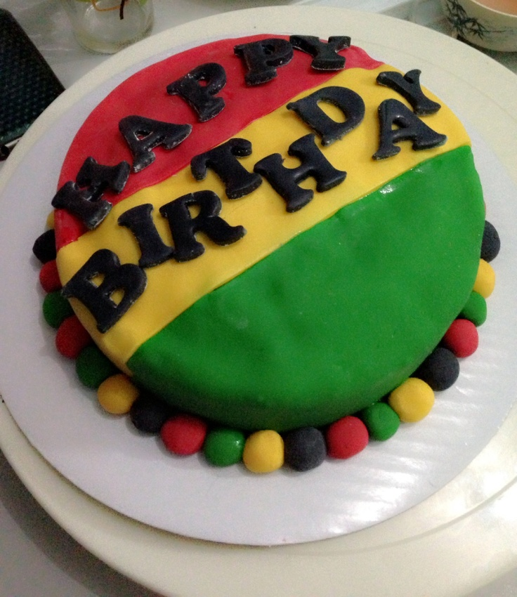 Terrific 13 Rastafari Colored Cakes Photo Rasta Birthday Cake Bob Marley Personalised Birthday Cards Veneteletsinfo