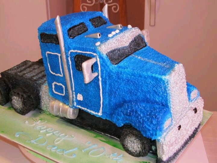 Brilliant 10 Truck Driver Cakes Photo Truck Driver Birthday Cake Semi Personalised Birthday Cards Sponlily Jamesorg