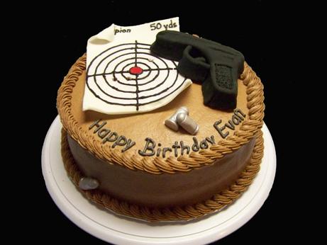 Target Practice Birthday Cake