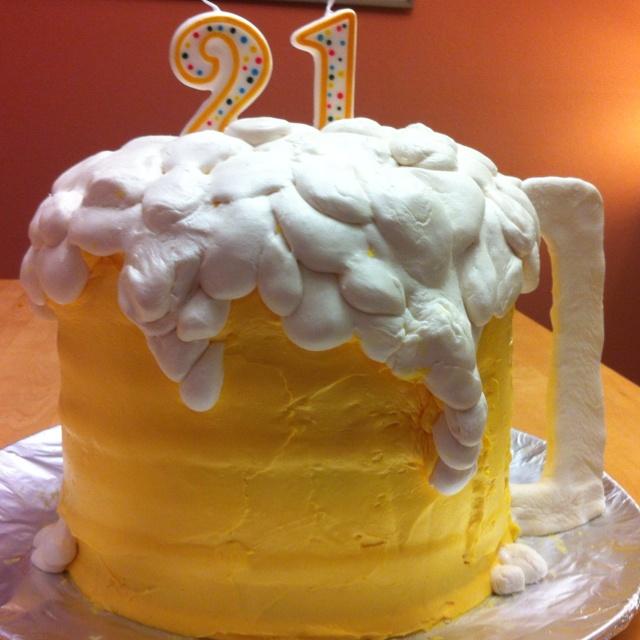 Surprising 11 21St Beer Stein Cakes Photo Men Beer Birthday Cake Ideas Funny Birthday Cards Online Overcheapnameinfo
