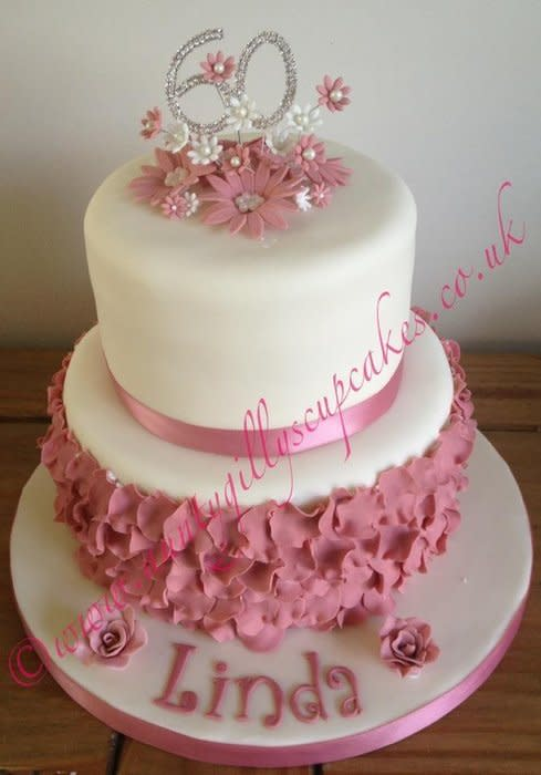 8 60th Birthday Cakes For Women Easy Photo