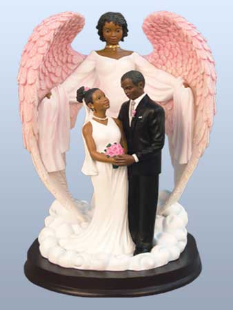 7 Black Wedding Cake Toppers For Cakes Photo - African American ...