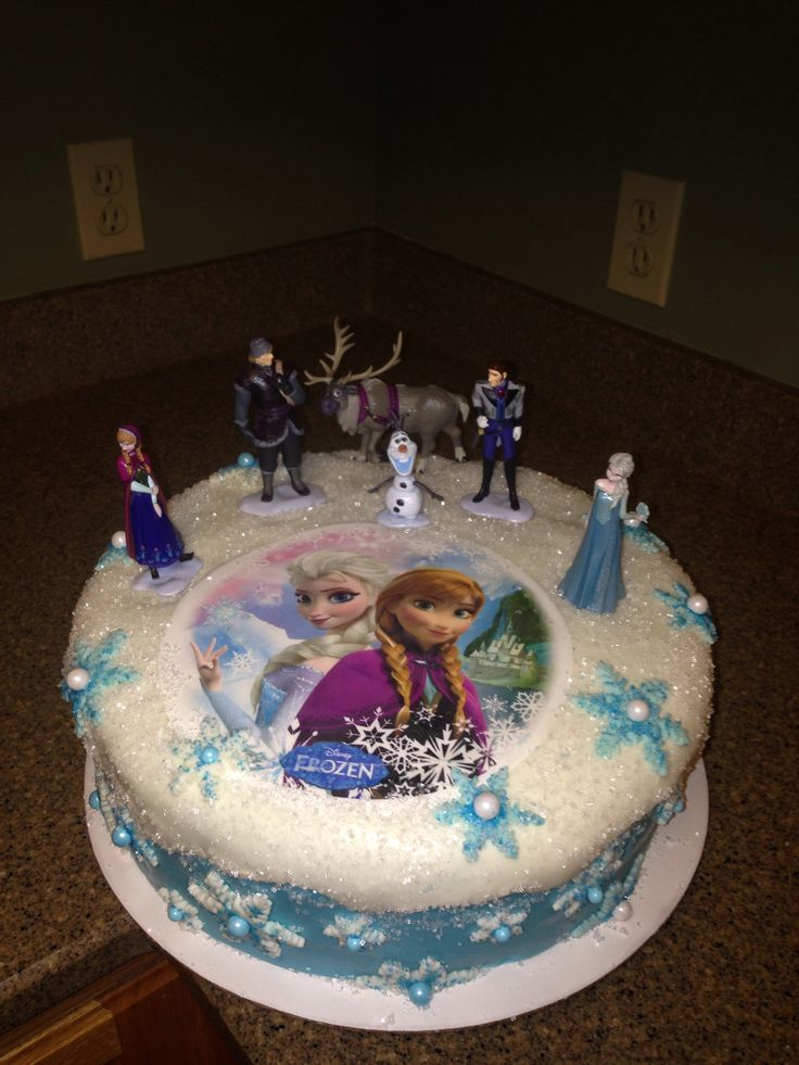 12 Disney Frozen Cakes Pinterest Photo Anna and Elsa Birthday Cake