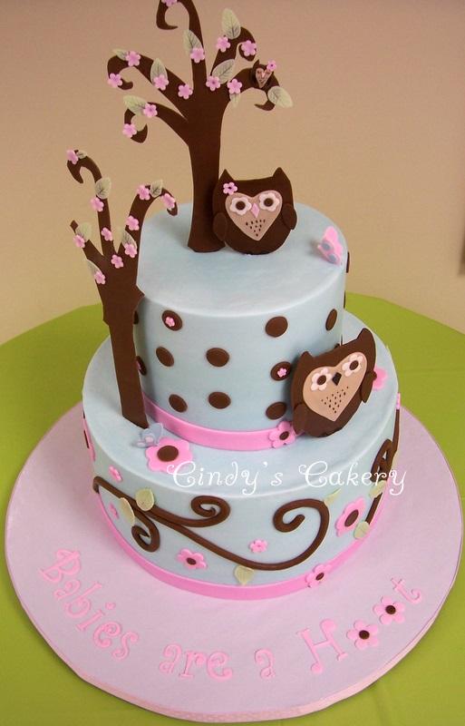 11 Owl Shower Cakes Photo Owl Baby Shower Cake Owl Baby Shower