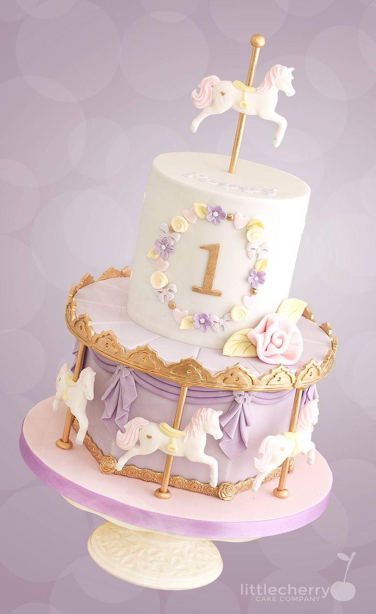 Marvelous 7 Easy Carousel Cakes Photo Carousel Horse Cake Carousel Personalised Birthday Cards Akebfashionlily Jamesorg