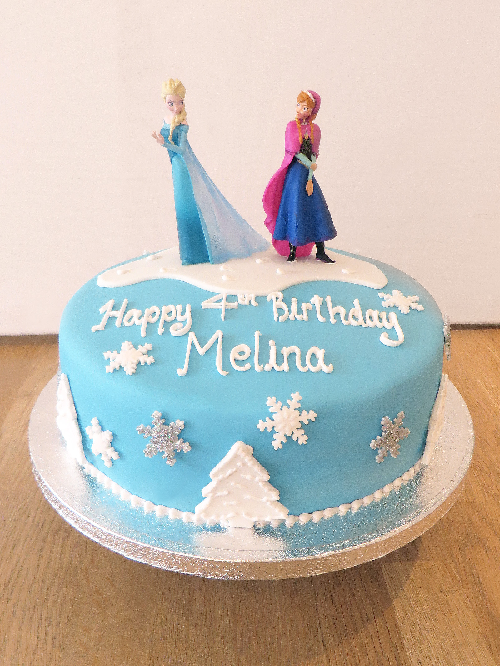 12 Disney Frozen Single Layer Cakes Photo Frozen Single Tier Cake