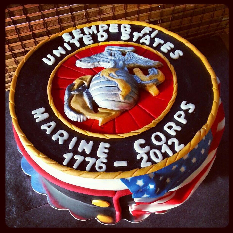 12 Military Marine Corps Cakes Photo Marine Corps Ball Cake