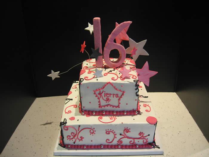 Pleasing 9 Happy Birthday Sweet Sixteen Cakes Photo Sweet 16 Birthday Funny Birthday Cards Online Kookostrdamsfinfo