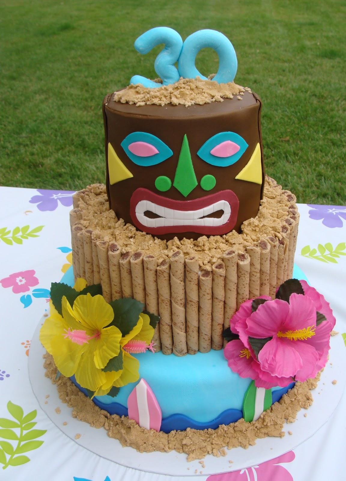 12 Tropical Tiki Cakes Photo Hawaiian Luau Birthday Cake Ideas