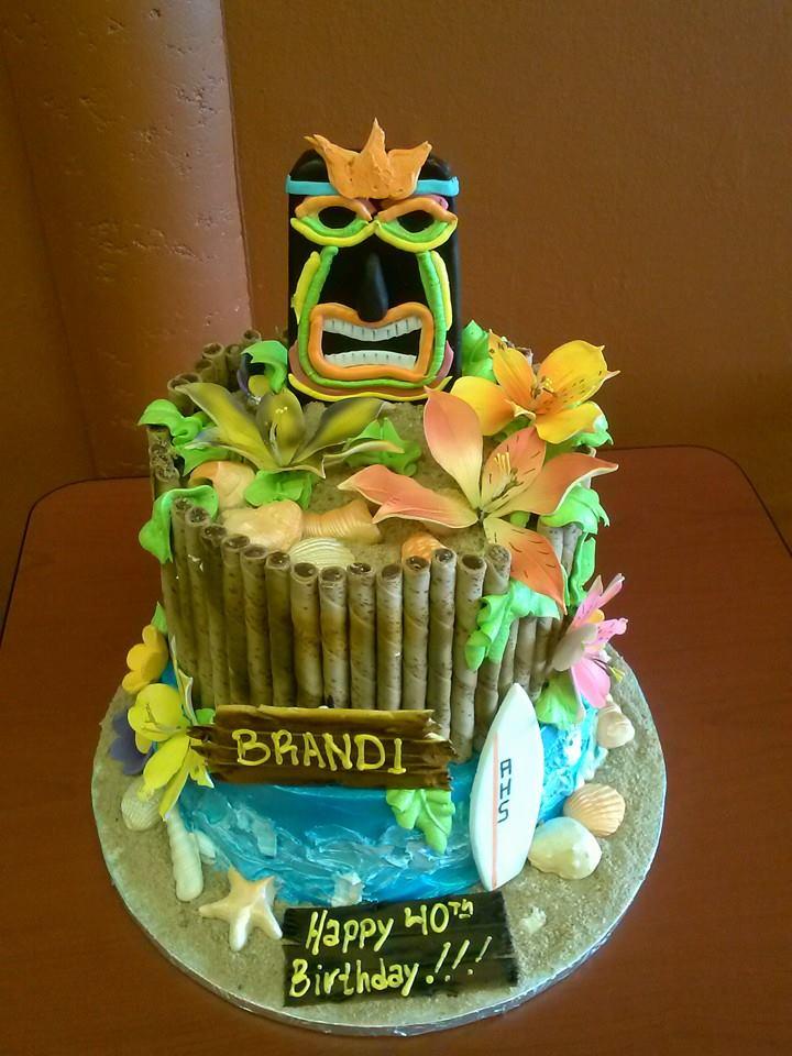 10 Hawaiian Beach Themed Birthday Cakes Photo Hawaiian Luau