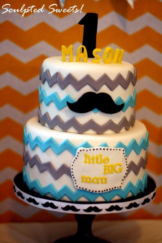 11 Mustache Party 1st Birthday Cakes Photo Mustache First Birthday