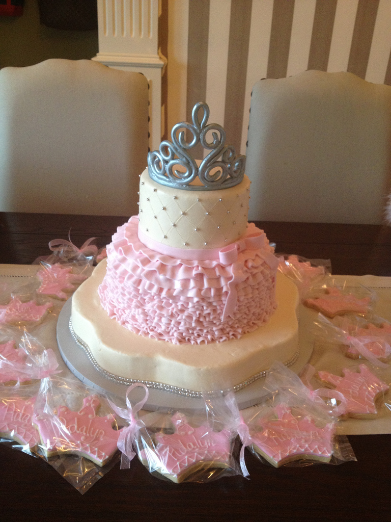 9 My Little Princess Baby Shower Cakes Photo Little Princess Baby