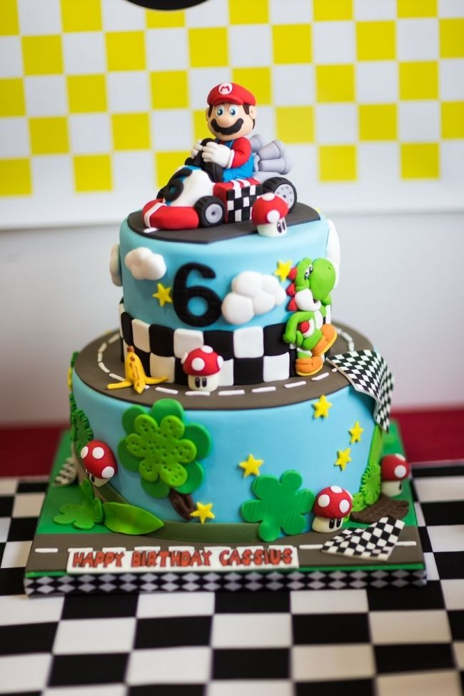 Mario Kart Birthday Cake Ideas