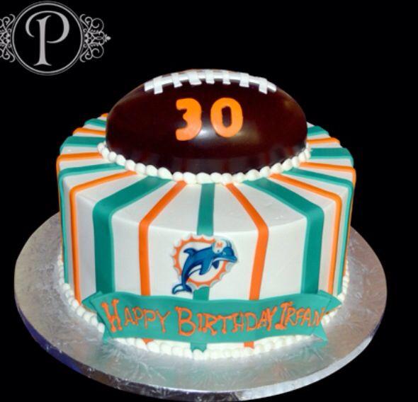 Super 10 Fondant Cakes In Miami Photo Miami Dolphins Cake Divine Personalised Birthday Cards Paralily Jamesorg