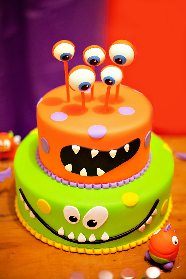 Excellent 12 Baby Monsters Birthday Halloween Cakes Photo Halloween Funny Birthday Cards Online Inifofree Goldxyz