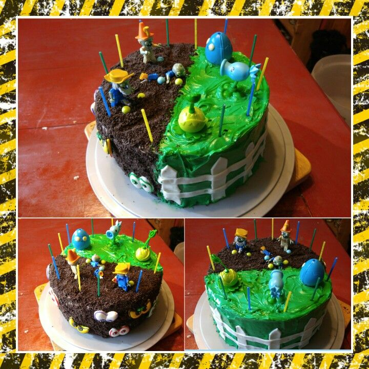 Stupendous 12 Diy Zombie Birthday Cakes Photo Plants Vs Zombies Birthday Personalised Birthday Cards Paralily Jamesorg
