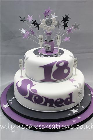 Outstanding 11 Purple 18Th Birthday Party Cakes Photo Purple 18Th Birthday Funny Birthday Cards Online Ioscodamsfinfo