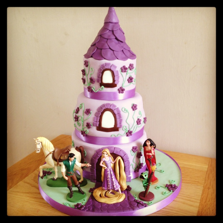 Outstanding 12 Rapunzel Tangled Birthday Cakes Photo Rapunzel Birthday Cake Birthday Cards Printable Inklcafe Filternl
