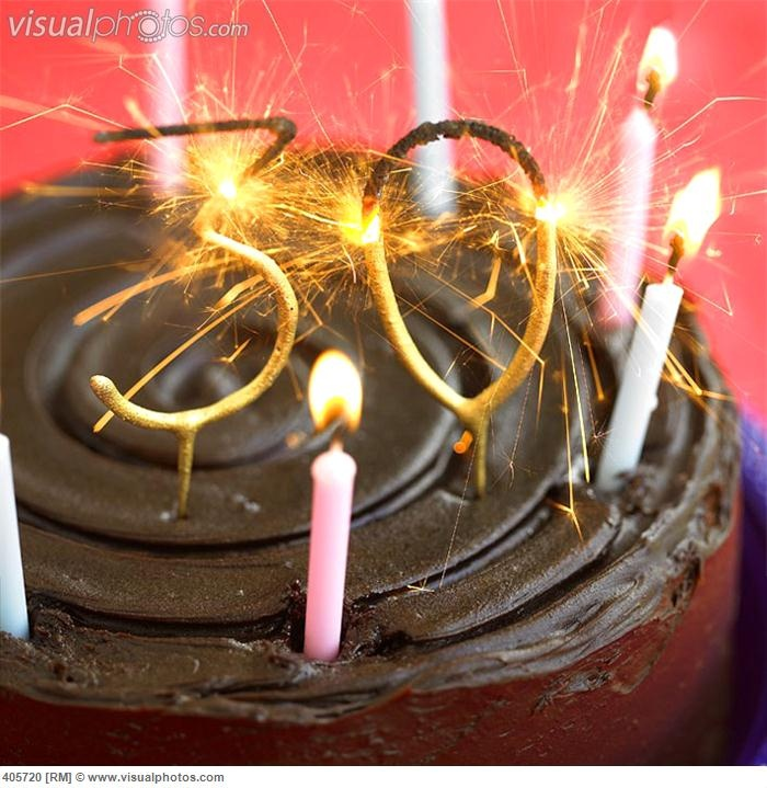 Sparkler Birthday Cake With Candles