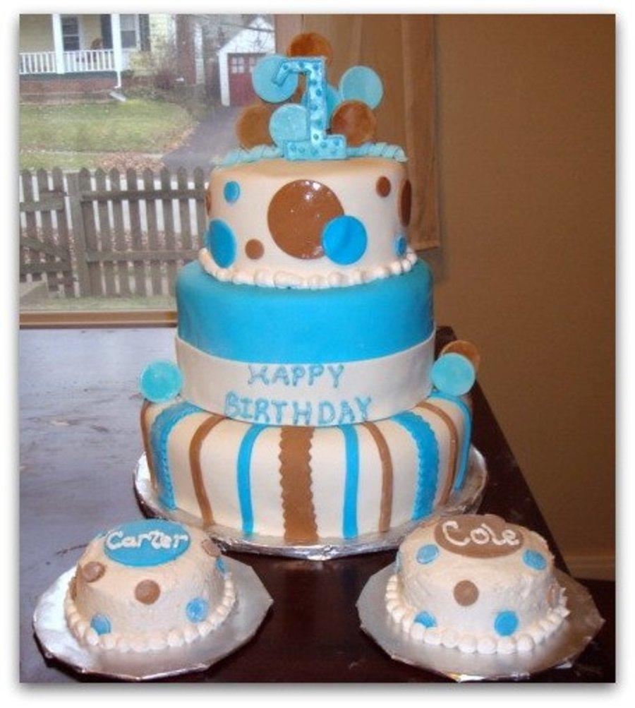 Stupendous 12 Little Twin Boys Birthday Cakes Photo Twin Boys 1St Birthday Funny Birthday Cards Online Elaedamsfinfo