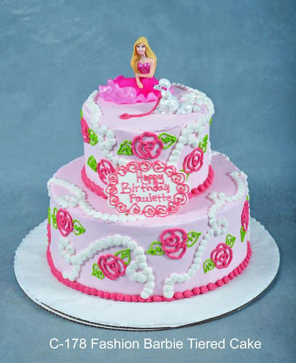 8 Barbie Tier Birthday Cakes Photo Barbie Cake With Fondant