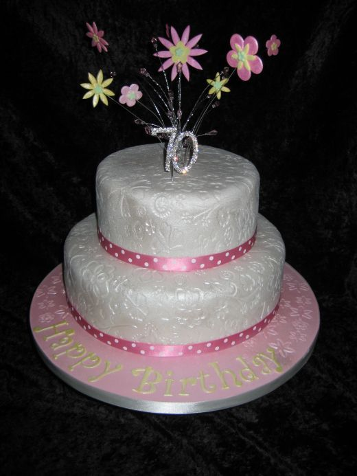 Ideas For Grandma Liviroom Decors 70th Regarding Source 9 2 Tier Birthday Cakes Photo Cake