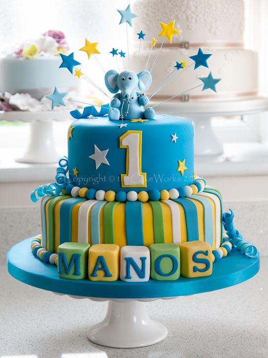 10 Simple Baby Boy First Bday Cakes Photo 1st Birthday Cake Ideas