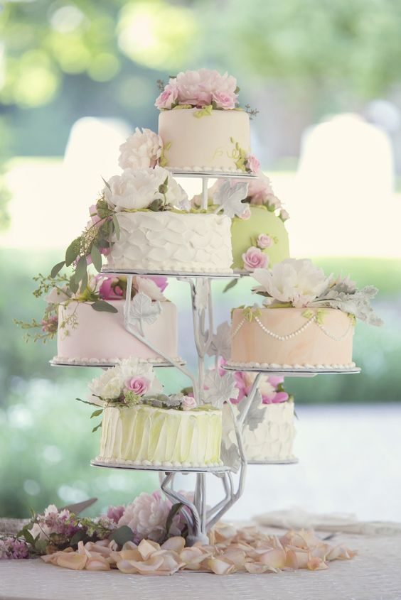 9 Pastel Wedding Cakes Cake Stands For Photo Wedding Cake Stand