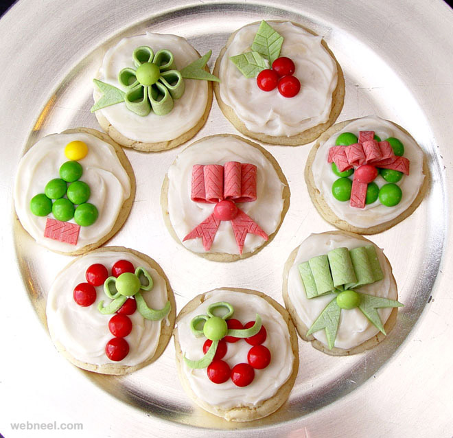 decorated christmas sugar cookies