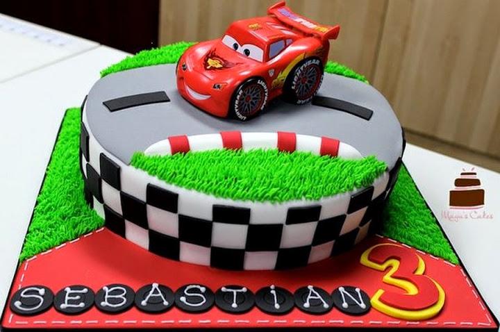 11 Auto Mobile Cakes Photo Race Car Birthday Cake Disney Cars