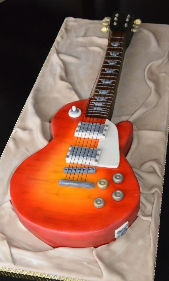 6 Electric Guitar Sheet Cakes Photo Guitar Birthday Cake Electric