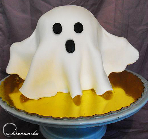 8 Halloween Sheet Ghost Cakes Photo Halloween Ghost Cake