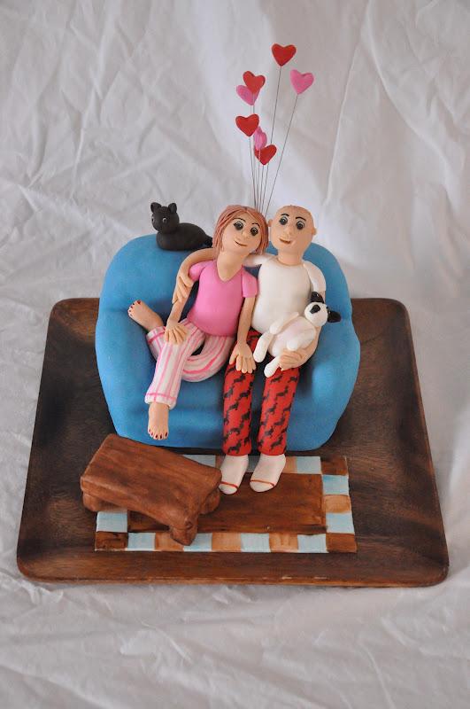 13 Husband Wife Shaped Cakes Photo Heart Birthday Cake For Husband