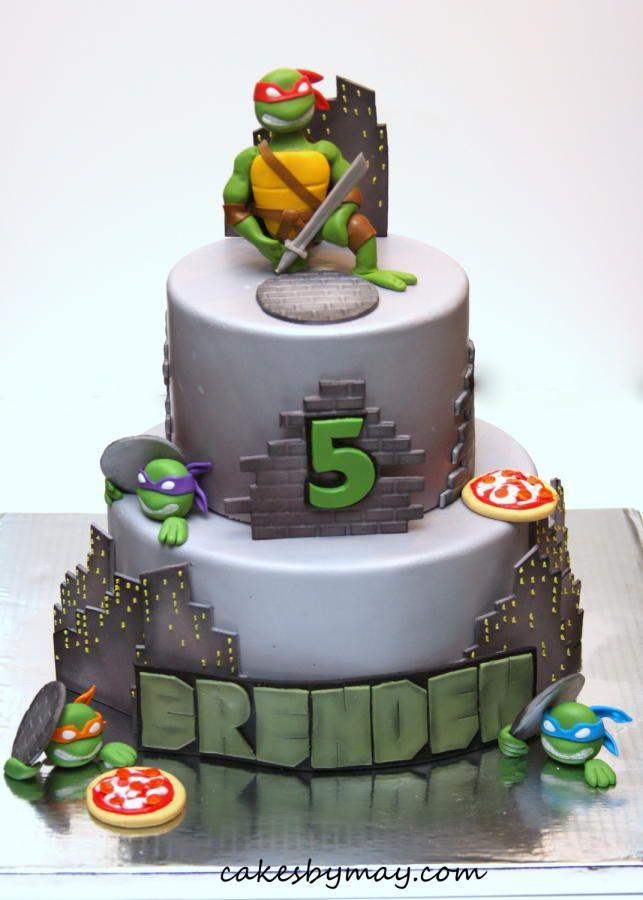 7 Printable Ninja Turtle Cakes Photo Ninja Turtle Birthday Cake