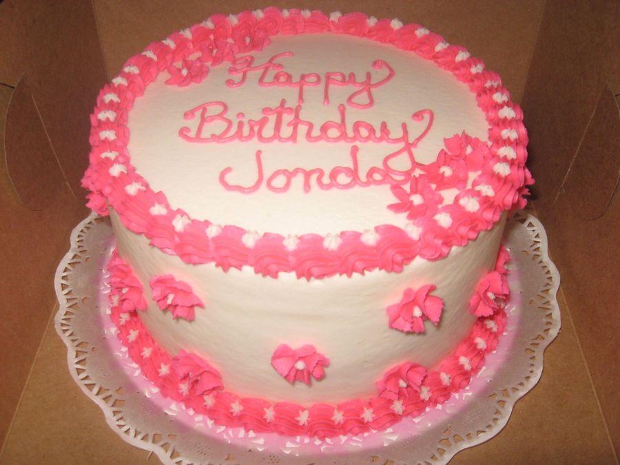 Sensational 7 Pink Round Birthday Cakes Photo Pink Round Birthday Cake Pink Personalised Birthday Cards Akebfashionlily Jamesorg