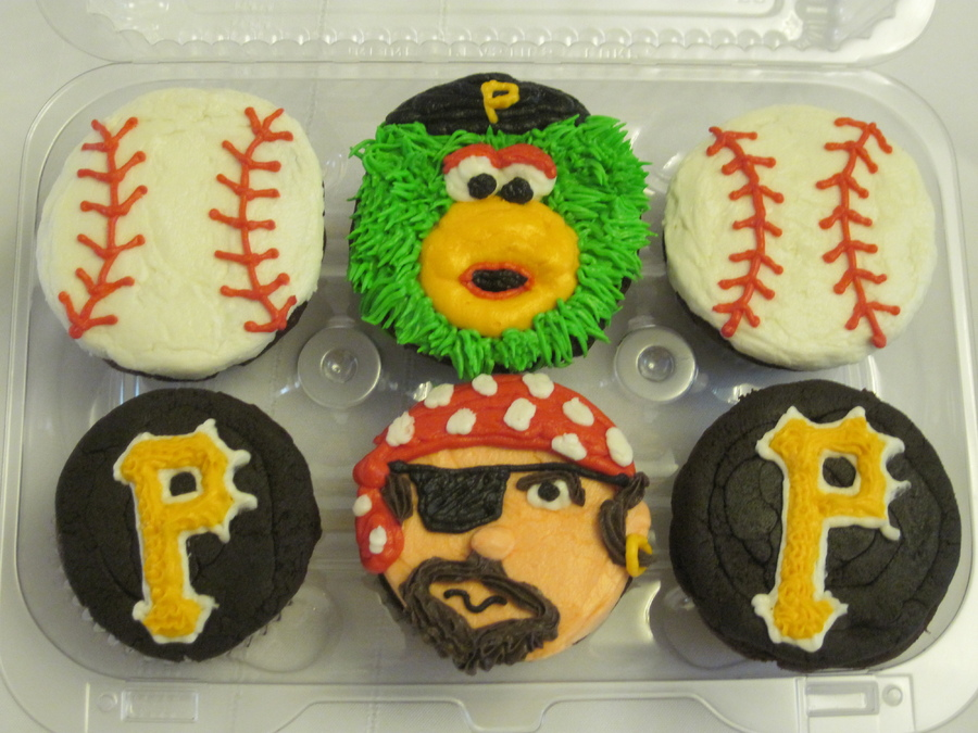 Pleasant 7 Pittsburgh Pirates Cupcakes Photo Pittsburgh Steelers Happy Funny Birthday Cards Online Alyptdamsfinfo